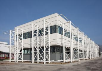 The new Magneti Marelli Crevalcore building inaugurated after the 2012 earthquake in Emilia Romagna